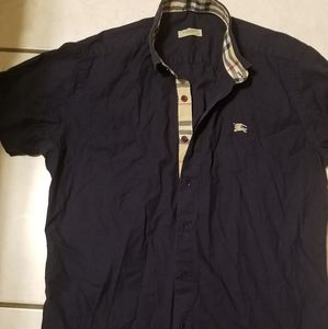 Burberry Shirt Navy Blue